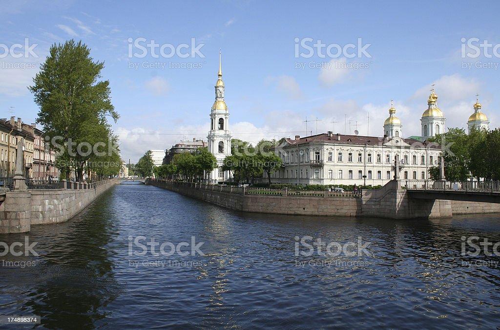 Bridges of St Petersburg stock photo