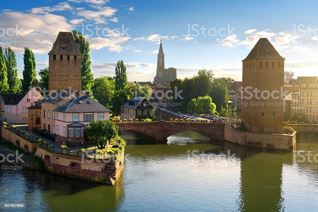 Bridges of Strasbourg stock photo