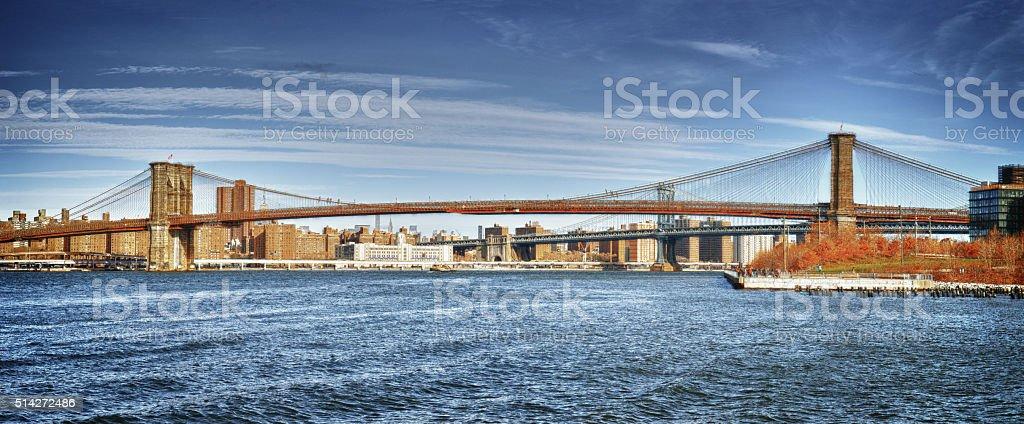 Bridges of the NYC. stock photo