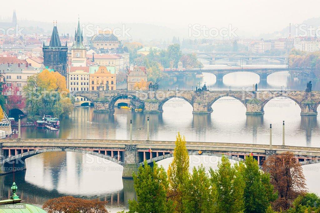 Bridges on Vltava river, Prague royalty-free stock photo