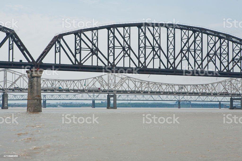 Bridges Over Ohio River stock photo