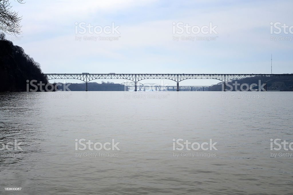 Bridges Over Susquehanna River stock photo