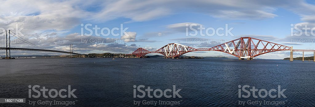 Bridges over the Firth of Forth stock photo