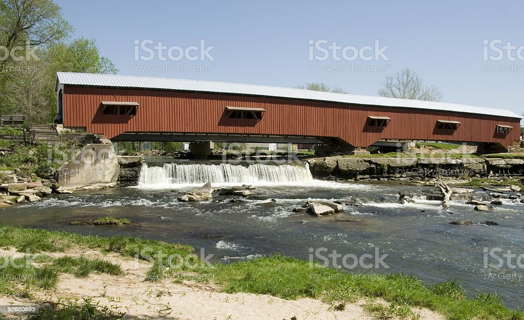 Bridgeton Covered Bridge stock photo