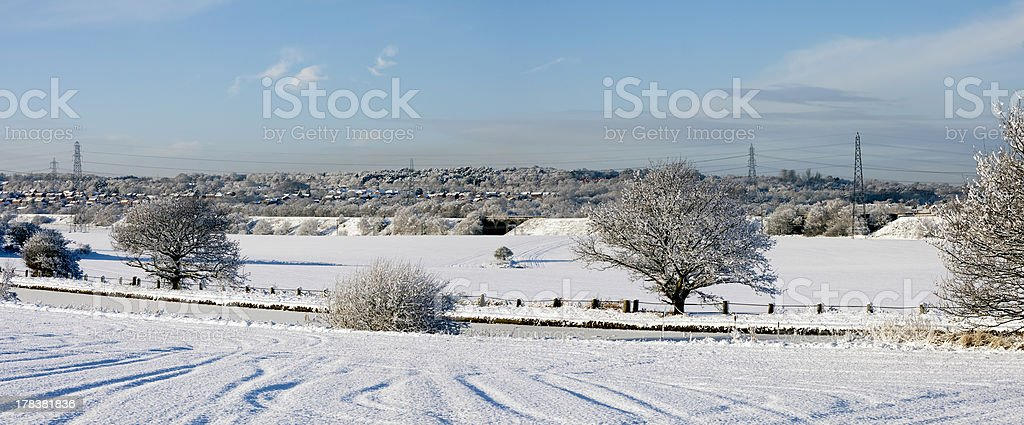 Bridgewater Canal after snow, Cheshire royalty-free stock photo
