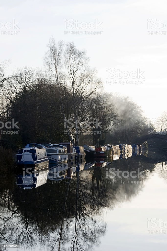 Bridgewater Canal at Moore, Cheshire royalty-free stock photo