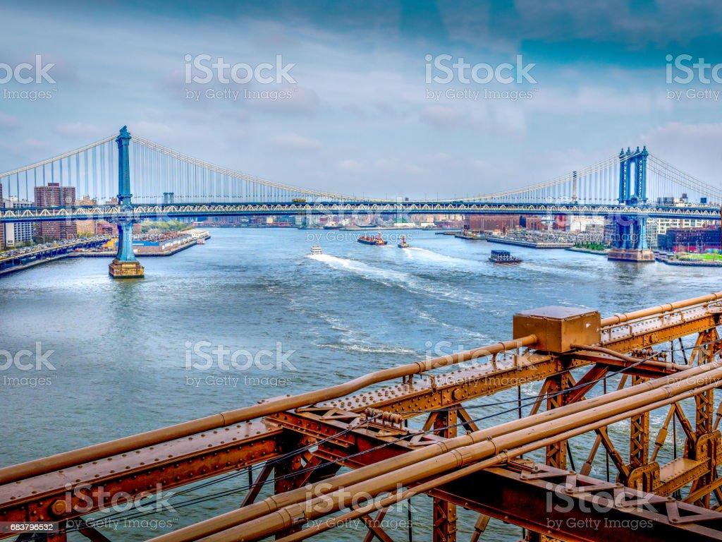 Bridging Manhattan stock photo