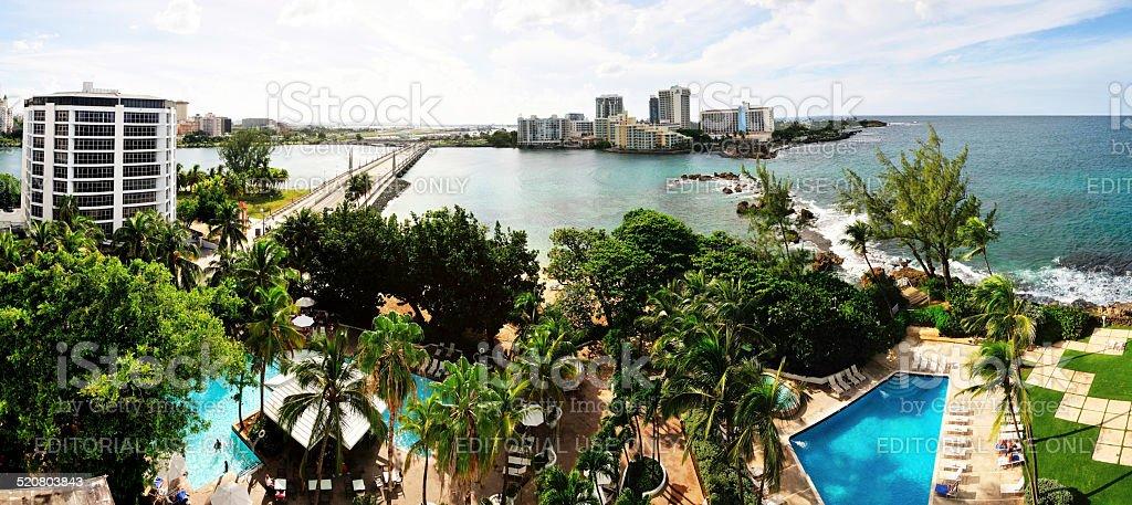 Bridging San Juan and Condado stock photo