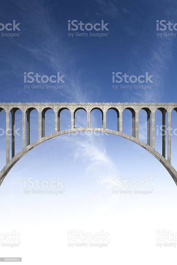 bridging the gap stock photo