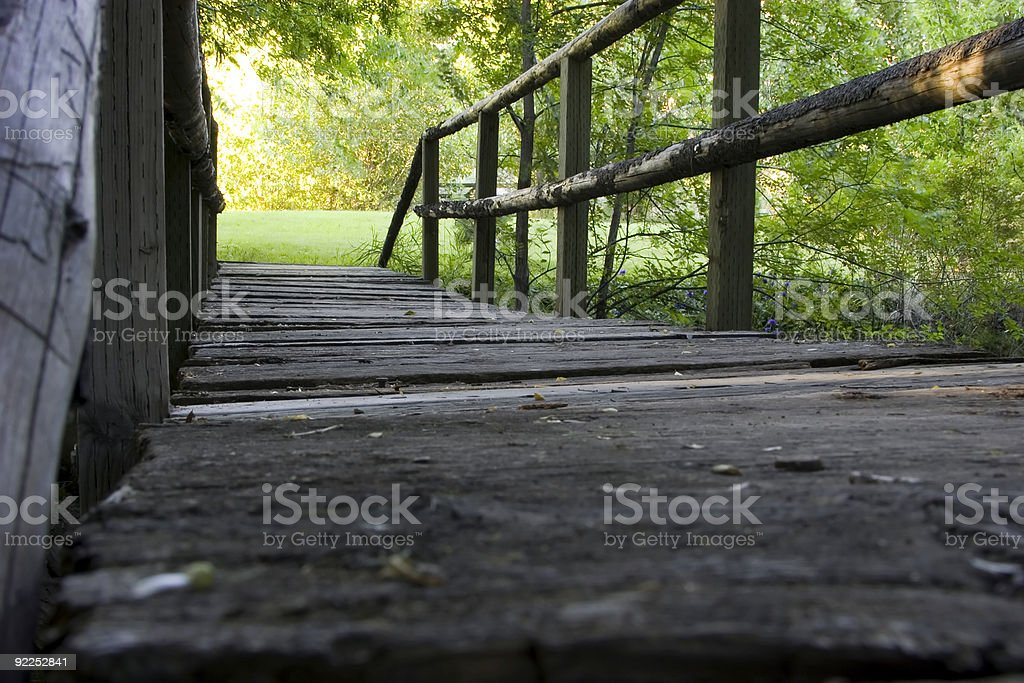 Bridging the River. stock photo