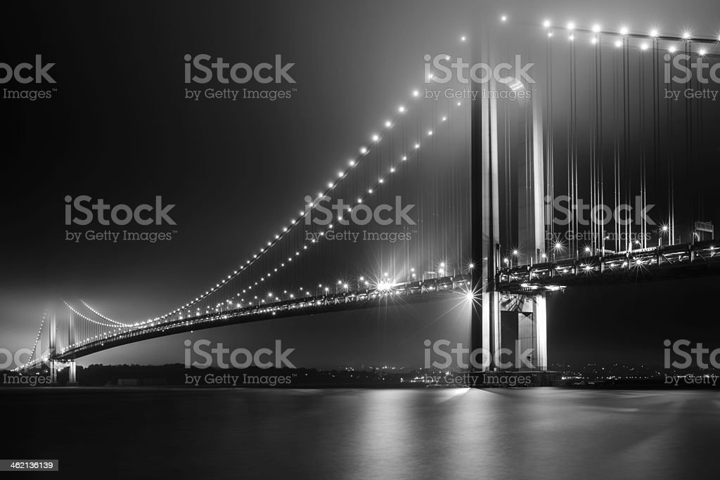 Bridging Verrazano Narrows stock photo