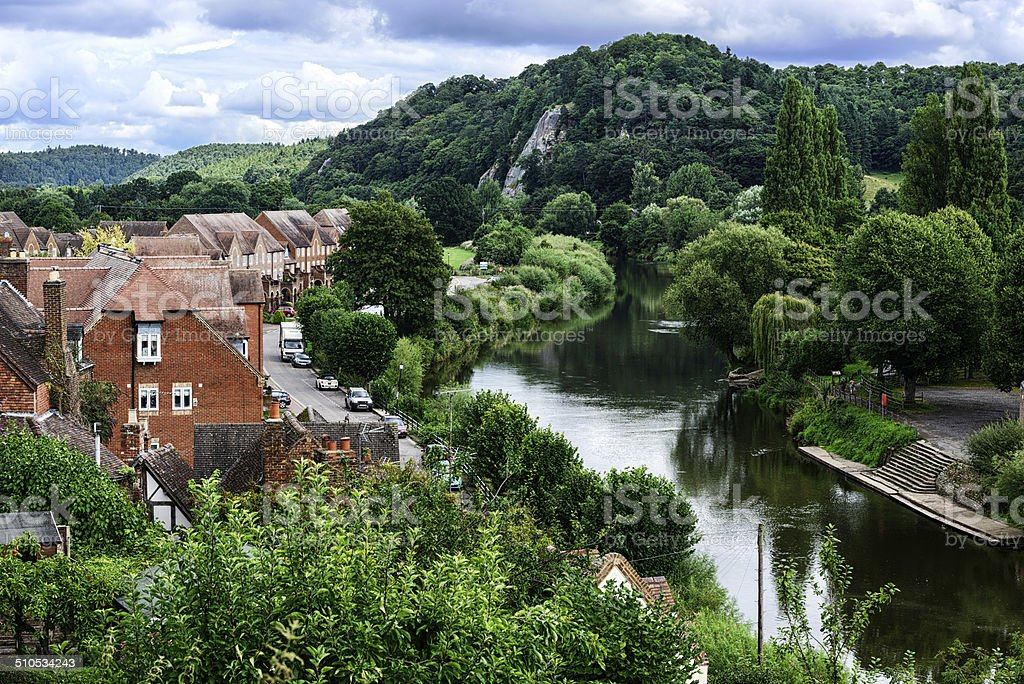 Bridgnorth and the River Severn in England stock photo