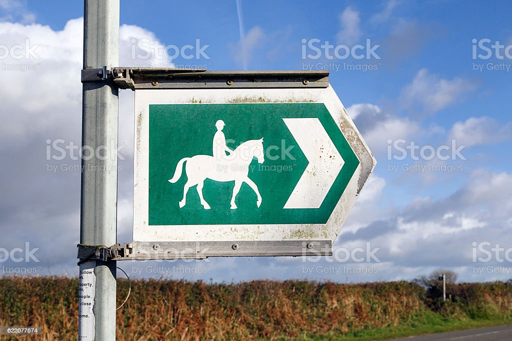 Bridle Way Sign stock photo