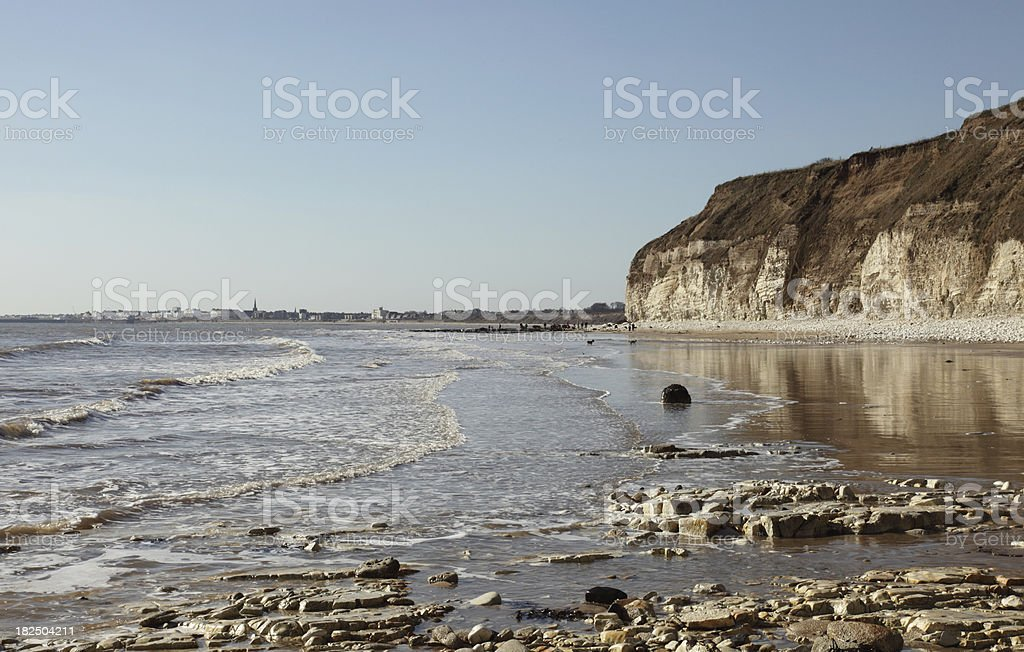 Bridlington Viewed From Flamborough Head stock photo