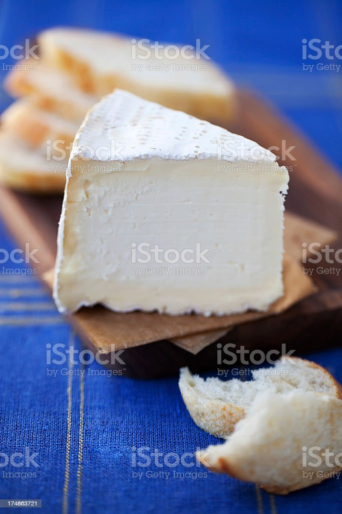brie and baguette royalty-free stock photo
