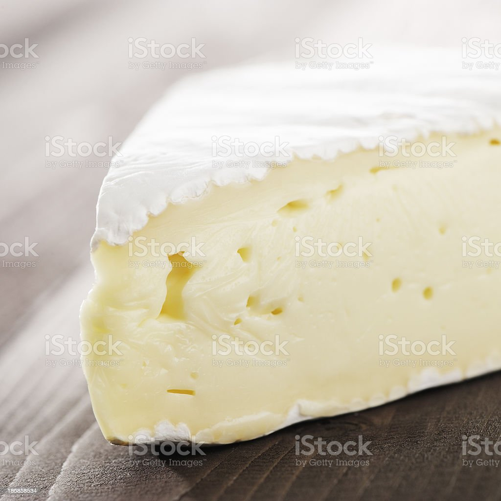 Brie cheese close up stock photo