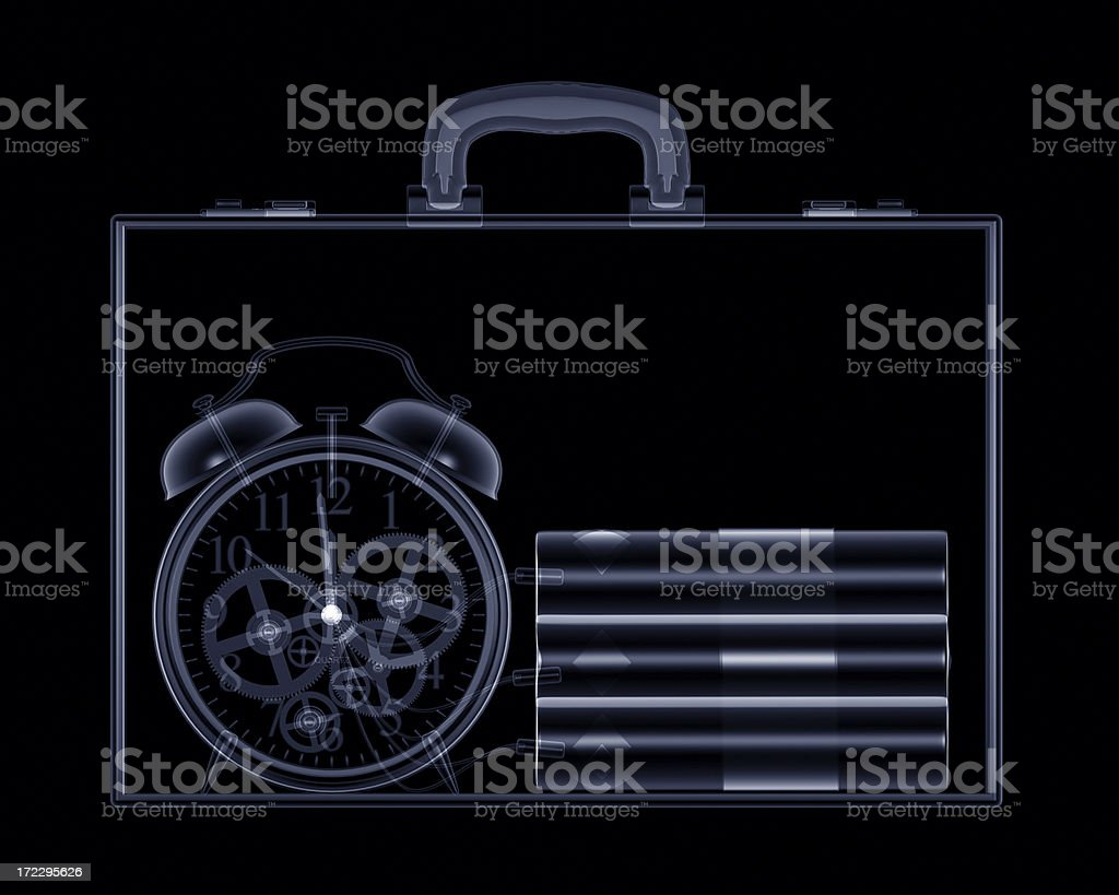 Briefcase Bomb royalty-free stock photo