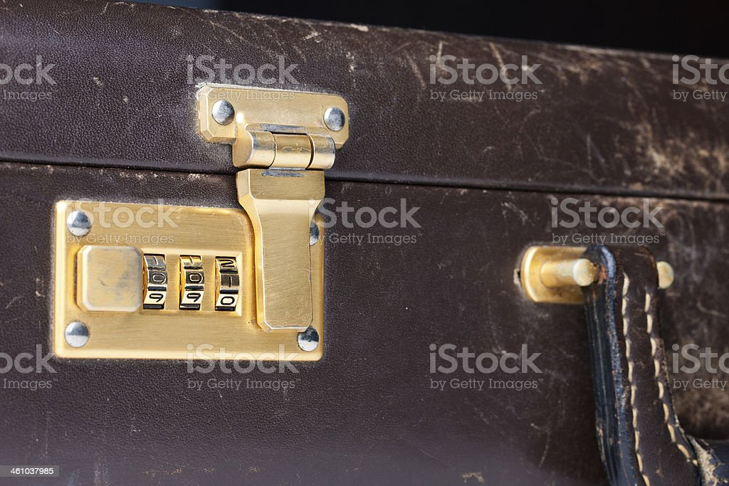 Briefcase Lock royalty-free stock photo