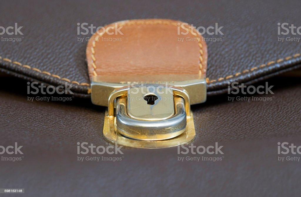 briefcase lock stock photo