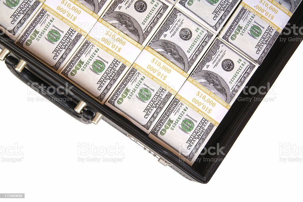 Briefcase of Cash royalty-free stock photo