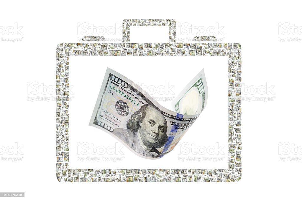 Aktentasche von Geld Lizenzfreies stock-foto