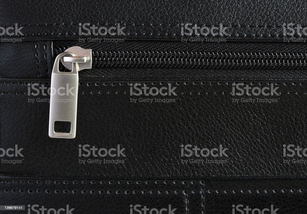 Briefcase Zip Detail royalty-free stock photo