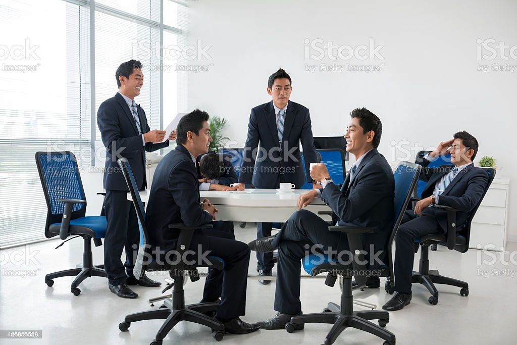 Briefing stock photo