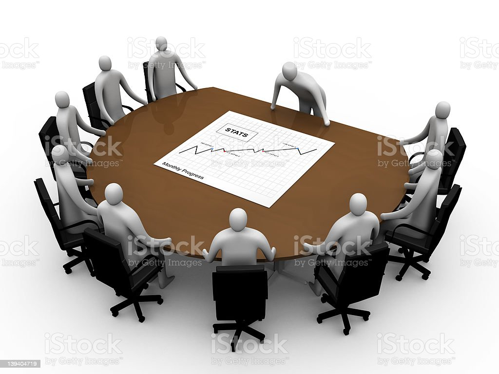Briefing room #6 royalty-free stock photo