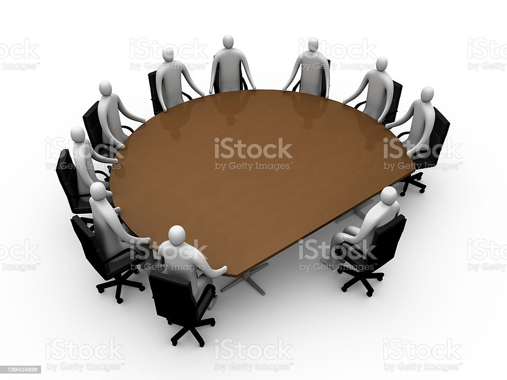 Briefing room #9 royalty-free stock photo