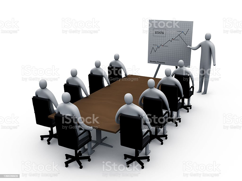 Briefing room #3 royalty-free stock vector art