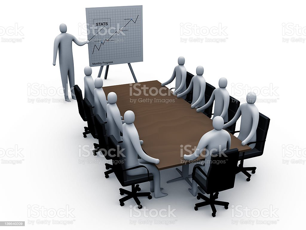 Briefing room #2 royalty-free stock photo