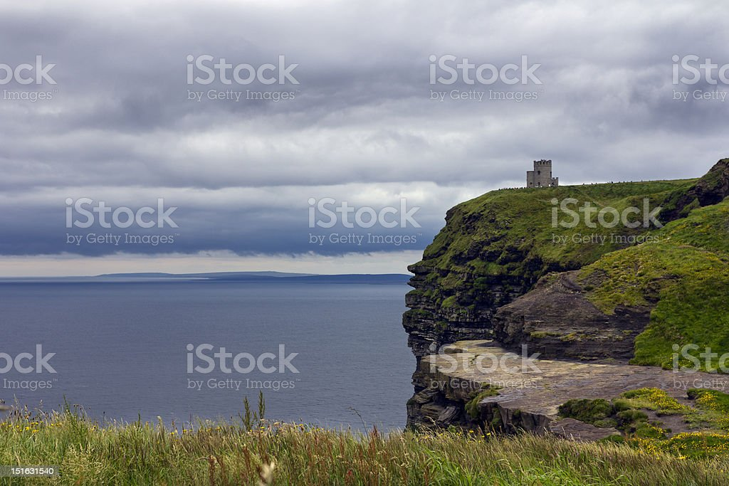 O'Brien's Tower Overlooks the Atlantic Ocean royalty-free stock photo