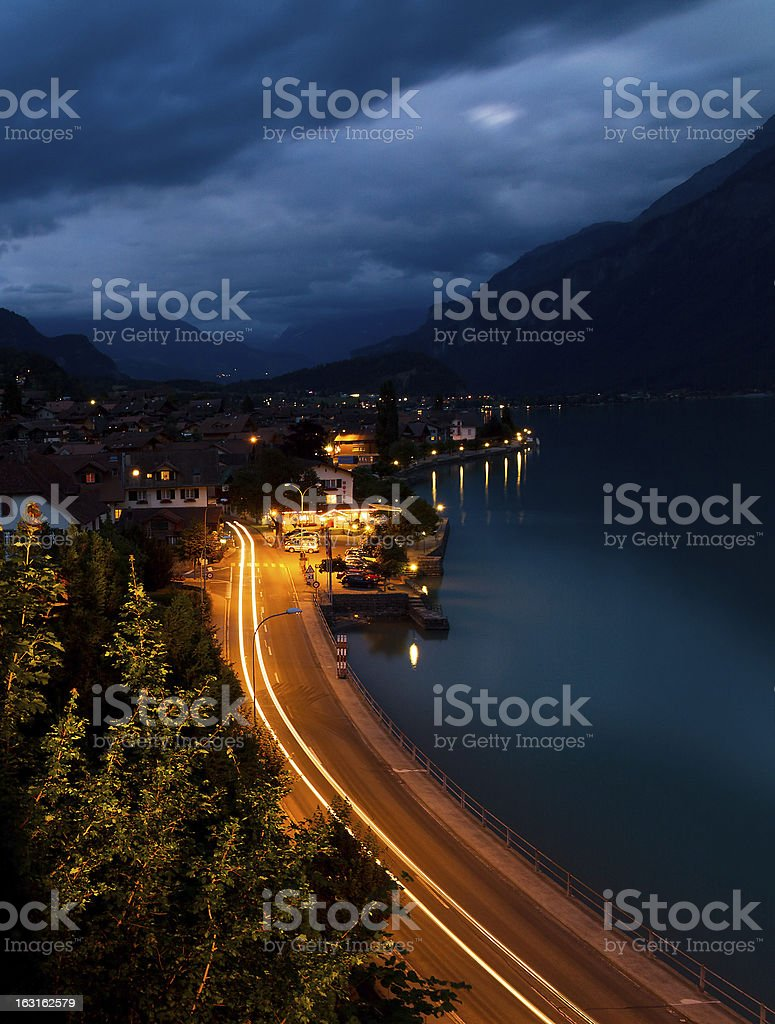 Brienz at twilight royalty-free stock photo