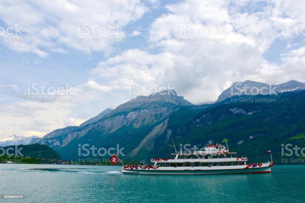 Brienz boat trip stock photo