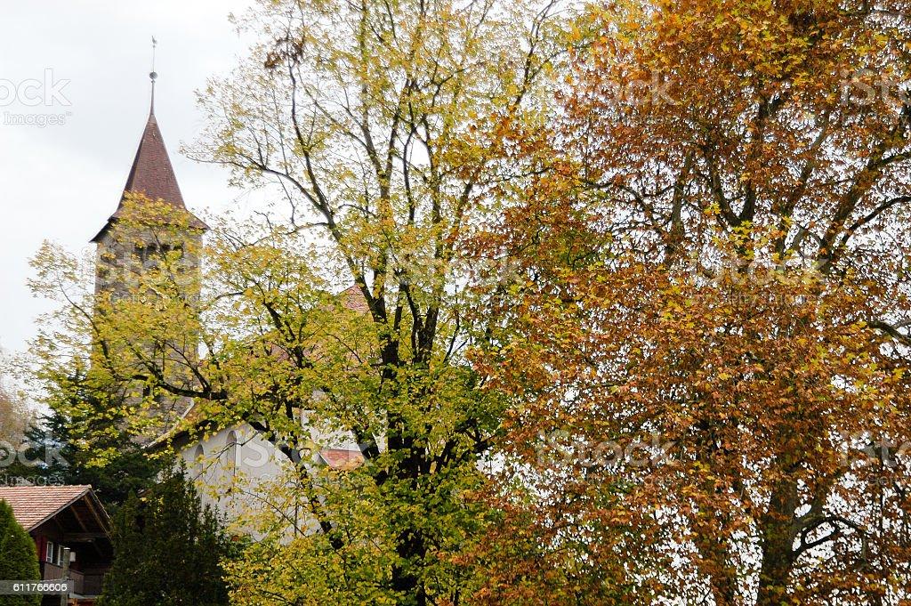 €€Brienz in Autumn, Switzerland stock photo