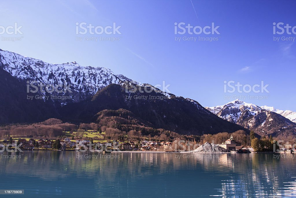 Brienz lake royalty-free stock photo