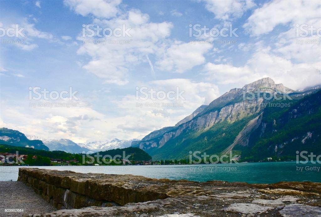 Brienz lake stock photo
