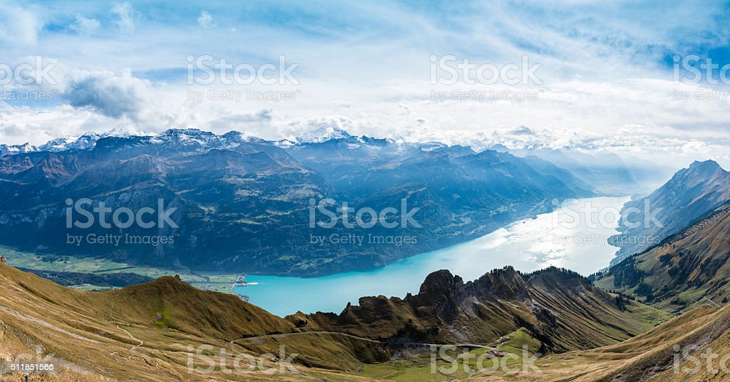 Brienz Switzerland featuring the Eiger stock photo
