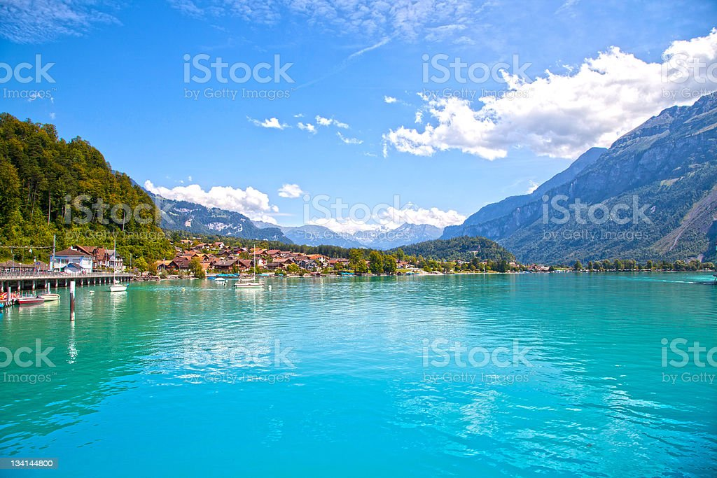 Brienz Town, Switzerland royalty-free stock photo