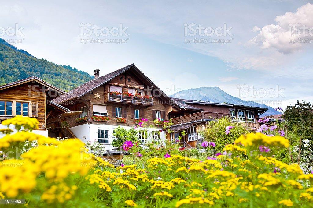 Brienz village in Switzerland royalty-free stock photo