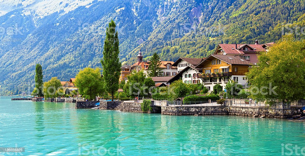 Brienz Village, Switzerland royalty-free stock photo