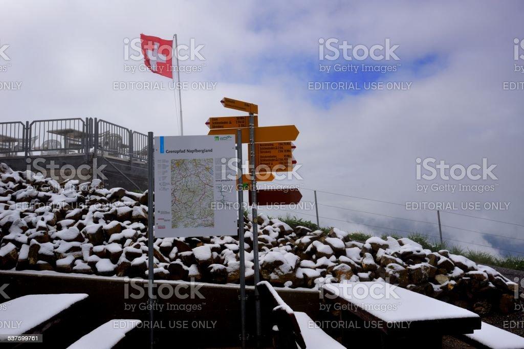 Brienzer Rothorn(German)peak in Switzerland 01 stock photo