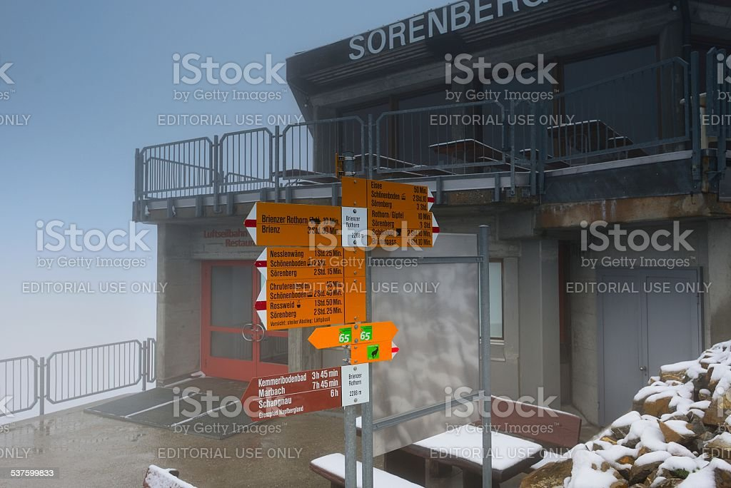 Brienzer Rothorn(German)peak in Switzerland 02 stock photo