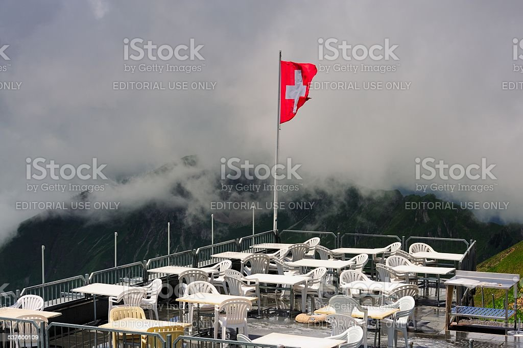 Brienzer Rothorn(German)peak in Switzerland 03 stock photo