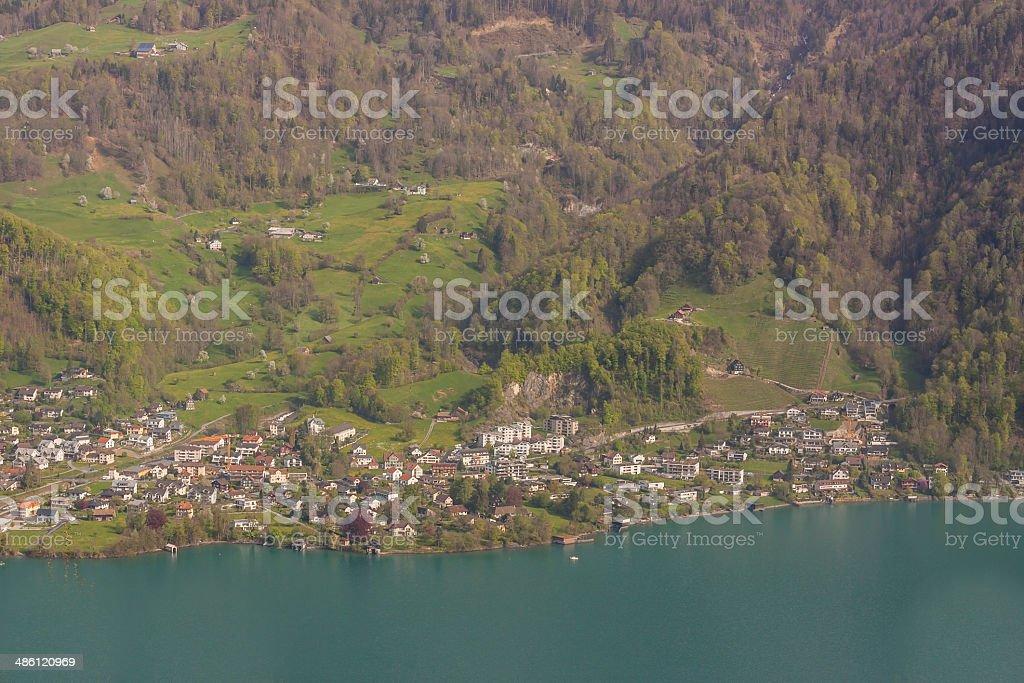 Brienzersee lake - Switzerland. stock photo