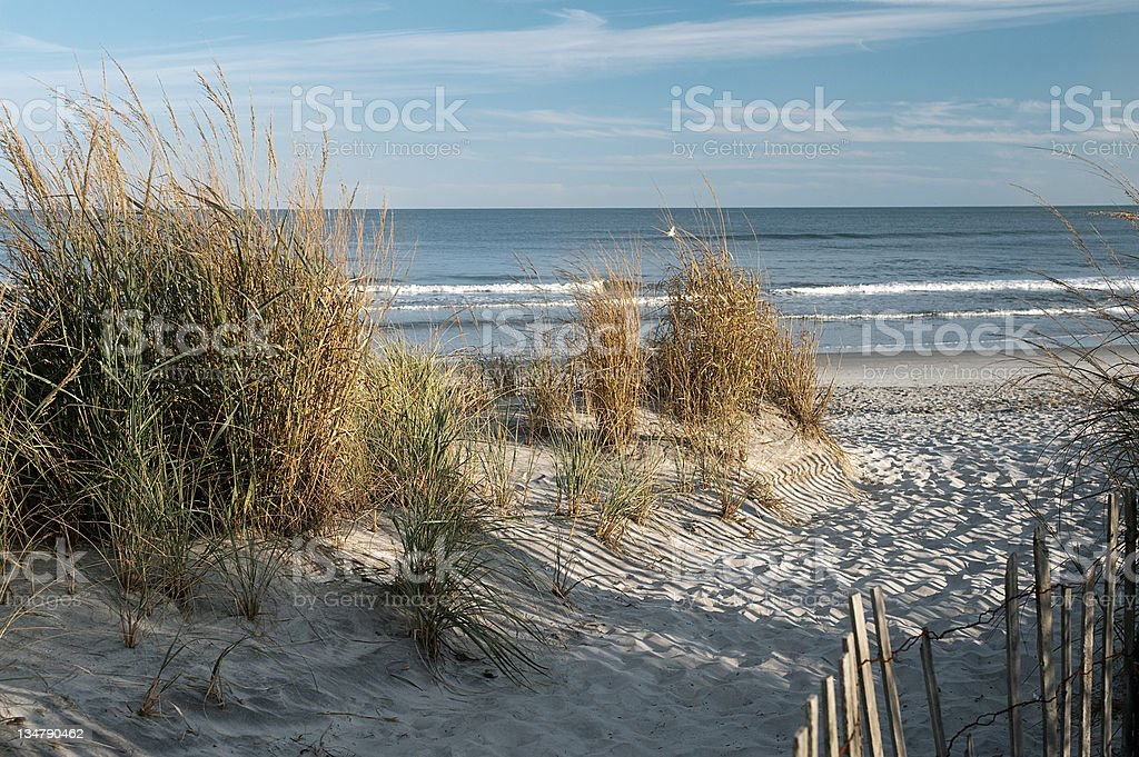 Brigantine beach NJ stock photo