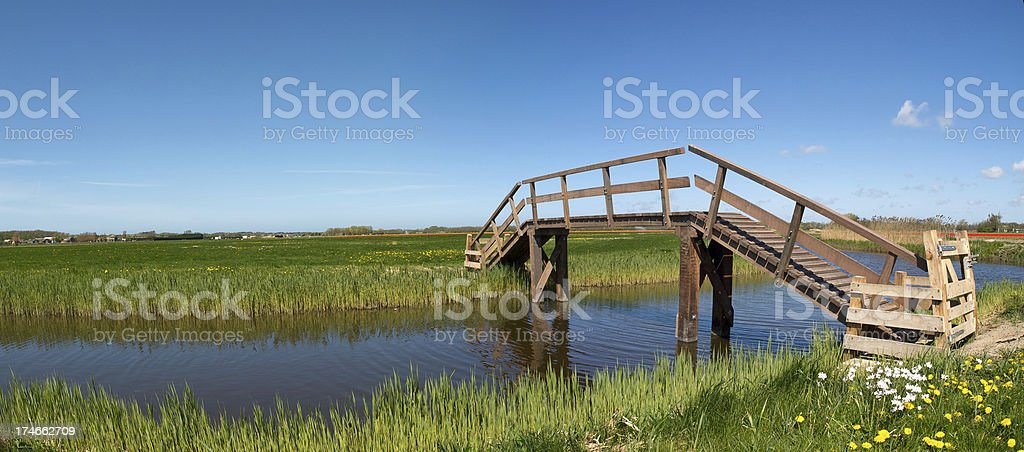 Brigde in Field royalty-free stock photo