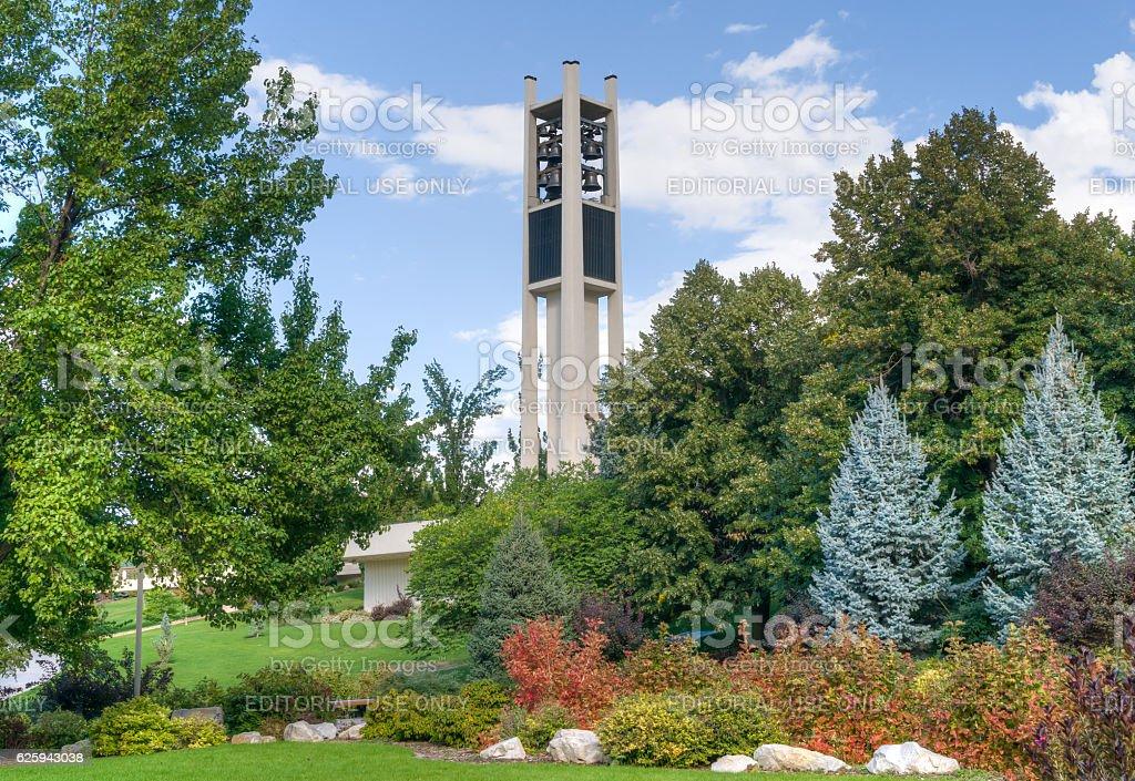 Brigham Young University Centennial Carillon Tower stock photo