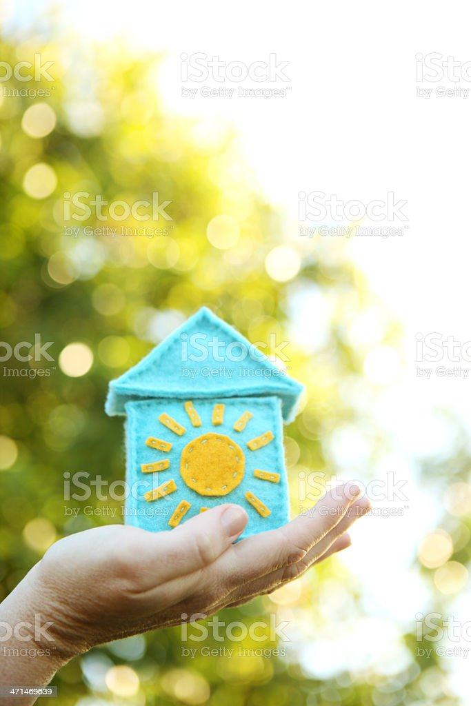Bright and Airy House royalty-free stock photo