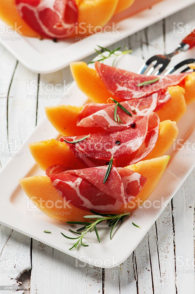 Bright and colorful delicacies of Italian food stock photo